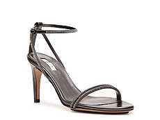 Calvin Klein Collection Kelena Rhinestone Leather Ankle Strap Sandal