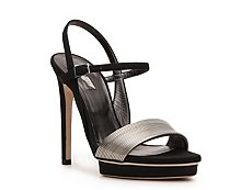 Calvin Klein Collection Kirsa Nubuck Leather Ankle Strap Sandal