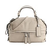 orYANY Holly Leather Base Zip Satchel