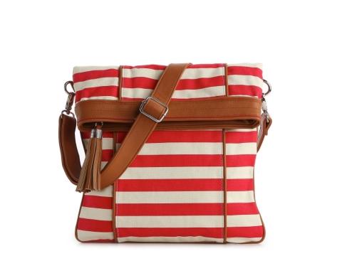Poppie Jones Canvas Stripe Messenger Shoulder Bag 94