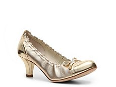Bally Safira Metallic Leather Bow Pump