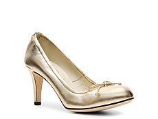 Bally Tonle Metallic Leather Bow Pump