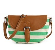 Poppie Jones Canvas Stripe Cross Body Bag