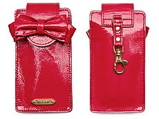 Just Cavalli Patent Leather Cell Phone Case