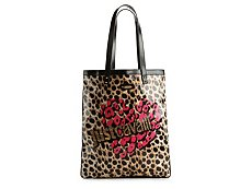Just Cavalli Coated Canvas Leopard Tote