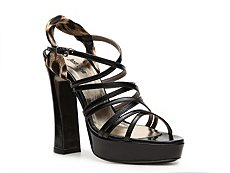 Just Cavalli Patent Leather Slingback Sandal