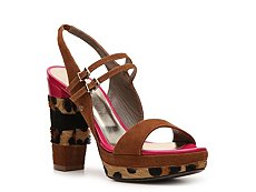 Just Cavalli Suede & Pony Hair Platform Sandal