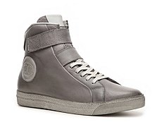 Just Cavalli Leather High-Top Sneaker