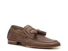 Just Cavalli Perforated Leather Tassel Loafer