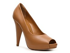 Bally Eddi Leather Peep Toe Pump