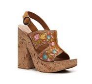 Bally Roxine Leather Wedge Sandal