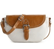 Kelly & Katie Two-Toned Mini Flap Saddle Bag