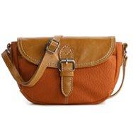 Kelly & Katie Two-Toned Mini Flap Saddle Bag