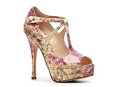 Bally Iwells Floral Patent Leather Platform Pump