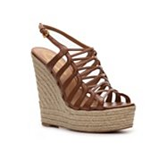 Elie Tahari Weaver Leather Wedge Sandal