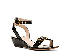 Elie Tahari Maddie Patent Leather Wedge Sandal