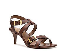 Elie Tahari Georgia Leather Buckle Sandal