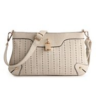 Melie Bianco Perforated Crossbody Bag