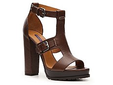 Ralph Lauren Collection Diandra Leather Buckle Sandal