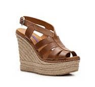 Ralph Lauren Collection Fianna Leather Wedge Sandal