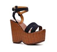 Ralph Lauren Collection Erala Suede Wedge Sandal