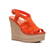 Ralph Lauren Collection Fianna Suede Wedge Sandal