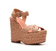 Ralph Lauren Collection Eralita Raffia Wedge Sandal