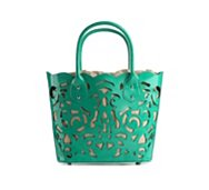 Poppie Jones Laser Patent Tote