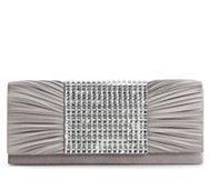 Lulu Townsend Rhinestone Center Flap Clutch
