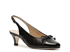 Rangoni by Amalfi Gaeta Leather Slingback Pump