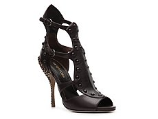Sergio Rossi Leather Gladiator Sandal