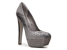 Sergio Rossi Reptile Leather Platform Pump