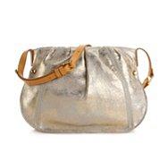 Perlina Blanca Leather Crossbody Bag