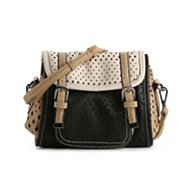 POVERTY FLATS by rian Perforated Crossbody Bag