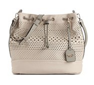 POVERTY FLATS by rian Perforated Drawstring Shoulder Bag