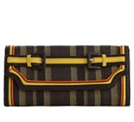Poppie Jones Belted Stripe Clutch
