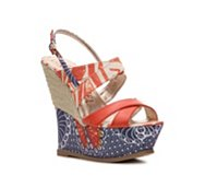 London Rebel Cayenne Wedge Sandal