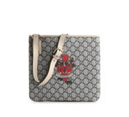 Gucci Signature Emblem Coated Fabric Messenger Bag