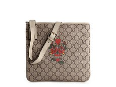 Gucci Coated Fabric Signature Emblem Messenger Bag