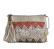 Big Buddha Chevron Convertible Clutch