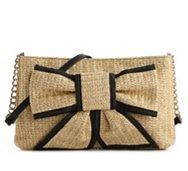 Poppie Jones Straw Bow Front Shoulder Bag