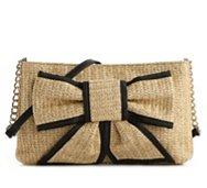 Poppie Jones Straw Bow Front Shoulder Bag