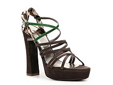 Just Cavalli Nubuck Leather Slingback Sandal