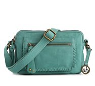 Audrey Brooke Leather Whipstitch Crossbody Bag