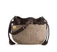 UGG Australia Knit Drawstring Cross Body Bag