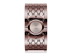 Gucci Women's Twirl Brown Stainless Steel Medium Bangle Watch
