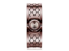Gucci Women's Twirl Brown Stainless Steel Small Bangle Watch