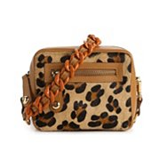 Just Cavalli Leopard Calf Hair Shoulder Bag