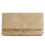 Lulu Townsend Lace Flap Clutch