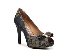 Salvatore Ferragamo Lace Bow Pump